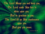 The Lord Bless You & Keep You (Green)
