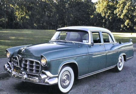 1956 imperial 4 door sedan - road, old, sedan, door