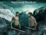 Supernatural dark angel and angel