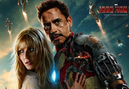 Iron Man 3 - robert downey jr, celebrity, claire danes, iron man, entertainment, people, handsome, iron man 3, movies, actresses, actors