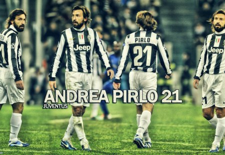 ANDREA PIRLO  JUVENTUS WALLPAPER 2013 - champions league, wallpaper, juventus, football, pirlo, italy