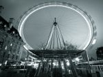 amazing ferris wheel in gray scale