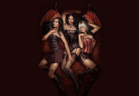 Sexy Vampires - Fantasy & Abstract Background Wallpapers ...