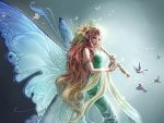Fairy Playing A Flute