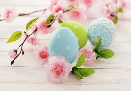 Easter Eggs - pretty, colorful, lovely, easter eggs, colors, beautiful, easter, sweet, flowers, beauty, nature, happy easter, wooden