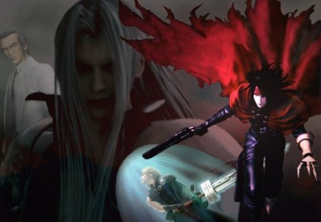 Final Fantasy VII - vincent, hojo, cloud, final fantasy vii, tiva