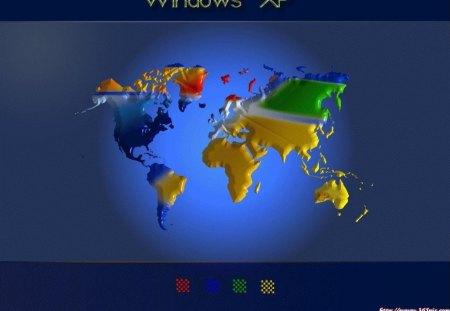 Windows xp world map windows technology background wallpapers windows xp world map gumiabroncs Images