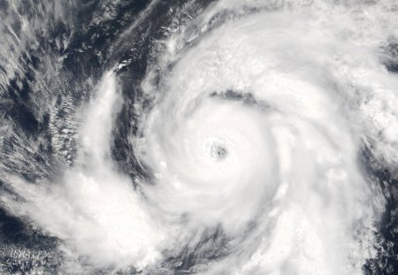 Hurricane Over Mexico - satellite, hurricane, above, earth, white, space