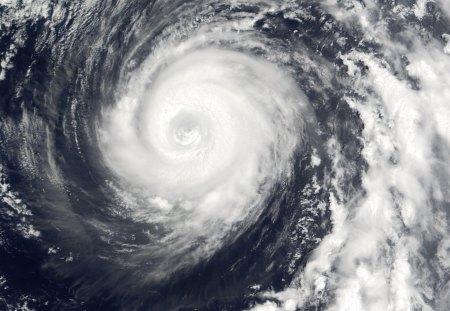 Typhoon From Space - swirl, space, white, satellite, typhoon