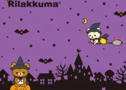 Rilakkuma Halloween - Bats, Korilakkuma, Rilakkuma, Pumpkin, Kawaii, Teddy, Cute, Halloween, Bear