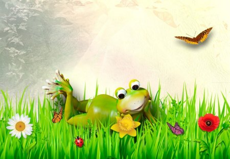 Fine Froggy Spring Day Frogs Animals Background Wallpapers On Desktop Nexus Image 1405910