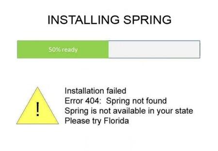 System Failure--NO Spring!!!! - 404, system error, help, spring