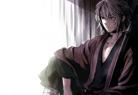 Hakuoki - hakuoki, guy, anime, sword, warrior