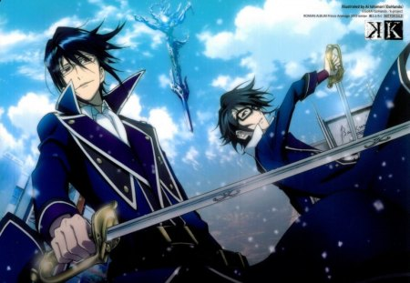 the blue knights - k project, anime, knight, other