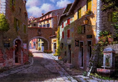 Street In France Other Abstract Background Wallpapers On Desktop Nexus Image 1407709