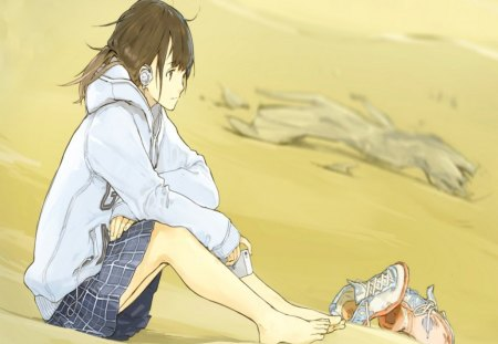 Alone in the desert anime girls wallpapers and images - Alone anime girl ...