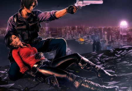 Leon & Ada - Resident Evil & Video Games Background Wallpapers on