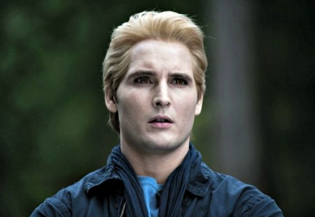 Peter Facinelli as Carlisle - forest, movie, yellow eyes, twilight saga, carlisle, fantasy, green, nature, vampire, peter facinelli, creature, blue