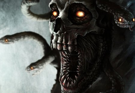 Download Skull And Snake wallpapers to your cell phone - fangs ...