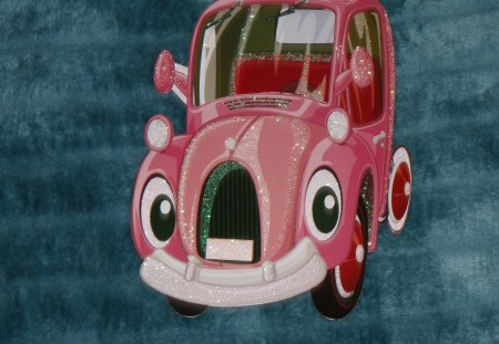 Little pink car - cute, photography, car, decal, pink, kids