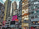urban scene in hong kong hdr