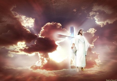Christ Has Risen 3d And Cg Amp Abstract Background