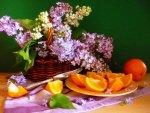 Lilac and orange