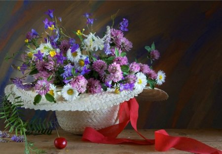 74f61ca8dda White hat with flowers - Photography   Abstract Background ...