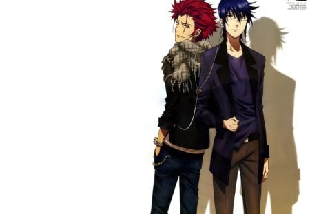 K Project - king, guy, red king, glasses, mikoto suoh, sunglasses, anime, k, handsome, k project, hot, male, sexy, blue king, plain, short hair, cute, boy, cool, simple, white, munakata reisi