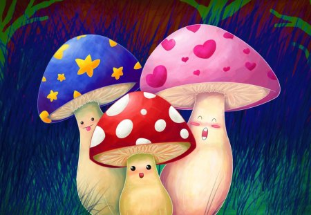 Cute Mushroom In Spring Other Nature Background