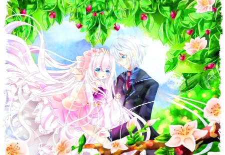*You Are My Life* - pretty, grass, sweet, sweetheart, sparkle, love, bright, flowers, beauty, pollen, lovely, romance, hearts, trees, cute, cool, lover, my life, colorful, Anime, Manga, shine, beautiful, leaves, Digital Media, Drawing, darling, light, couple, animals, romantic, colors, spring, plants, petals, Paintings
