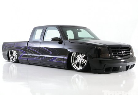 Dia De Los Muertos - Black, Custom Paint, Lowered, Ext Cab