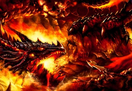 Dragon's Fire   Fantasy & Abstract Background Wallpapers on