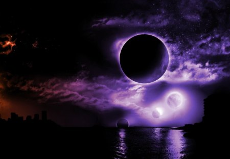 Dark Space Fantasy Abstract Background Wallpapers On