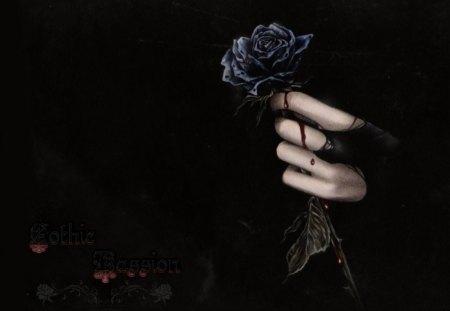 Gothic Passion - dark, passion, gothic, black, victoria frances