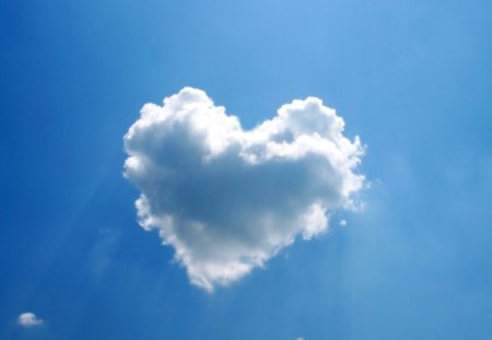 Heart Cloud - cloud, fluffy, heart, clouds, hearts, sky, blue