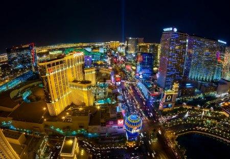 Las Vegas Strip At Night Wallpaper
