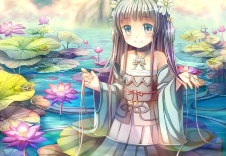 Lotus Pond - Other & Anime Background Wallpapers on ...