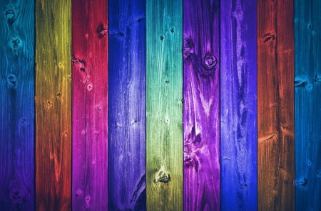Colorful world - colorful, hd, blue, colors, red, yellow, paint, spectrum, fence