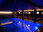 stars over an indoor pool