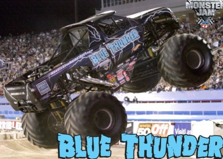 Blue Thunder Monster Truck Photography Abstract Background Wallpapers On Desktop Nexus Image 143237