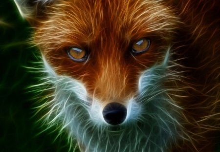 Fractal Baby Fox Other Amp Animals Background Wallpapers