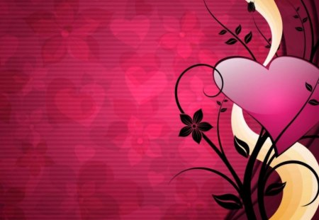 Pink Heart Love Romantic 3d And Cg Abstract Background