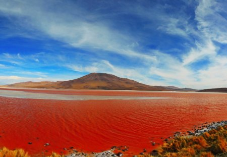 I thought only the nile bled - red, desert, river, clouds, hill