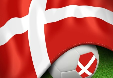 Danish flag football - soccer, danish, denmark, football, flag