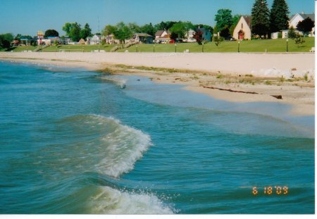michigan lakeshore - beach, great lakes, lakes, waves