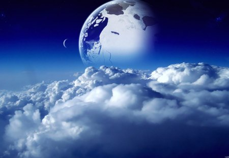 One Beautiful World - cracked world, blue world, blue planet, beautiful planet, beautiful earth, One Beautiful World