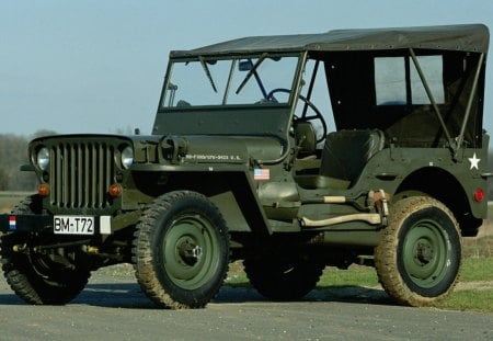 Willys MB Jeep 1942 - photo, cars, green, 1942, jeep