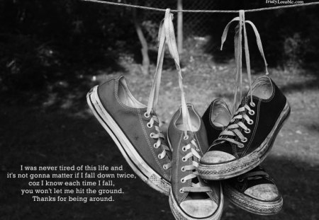 I  was never... - black, kool, converse, shoes