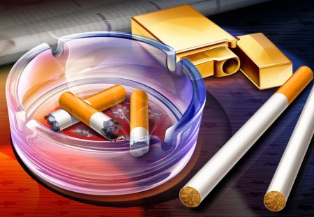 It is Time to Quit - 3d, bad, cigarettes, health problems